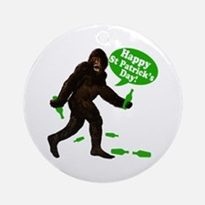 Happy St Patricks Day Bigfoot Ornament (Round)