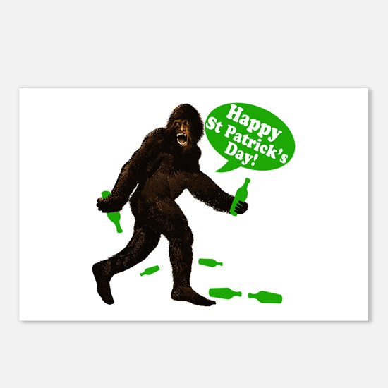 Happy St Patricks Day Bigfoot Postcards (Package o