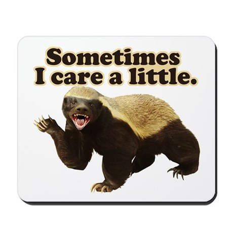 Honey Badger Does Care! Mousepad