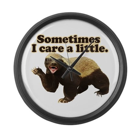 Honey Badger Does Care! Large Wall Clock