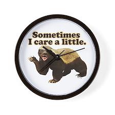 Honey Badger Does Care! Wall Clock