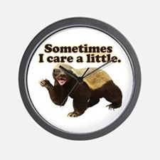 Honey Badger Does Care! Wall Clock