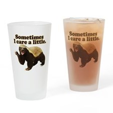 Honey Badger Does Care! Drinking Glass