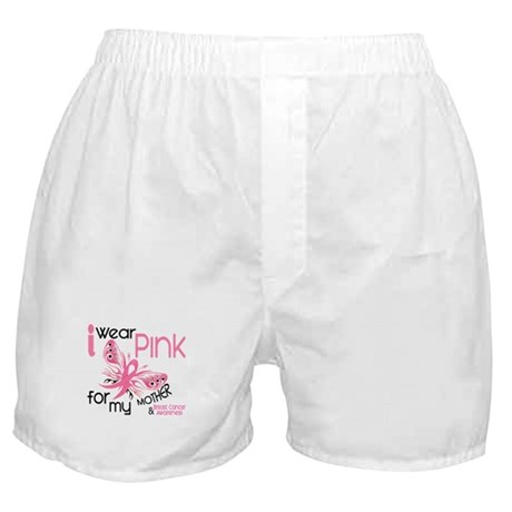 I Wear Pink 45 Breast Cancer Boxer Shorts