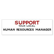 Support: HUMAN RESOURCES MAN Bumper Bumper Sticker
