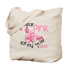 I Wear Pink 45 Breast Cancer Tote Bag