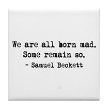 Beckett quote Tile Coaster