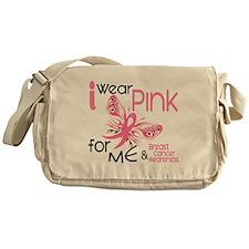 I Wear Pink 45 Breast Cancer Messenger Bag