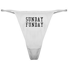 SUNDAY FUNDAY Classic Thong