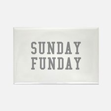 SUNDAY FUNDAY Rectangle Magnet