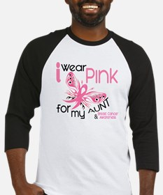 I Wear Pink 45 Breast Cancer Baseball Jersey