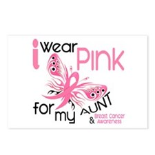 I Wear Pink 45 Breast Cancer Postcards (Package of
