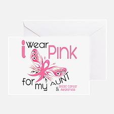 I Wear Pink 45 Breast Cancer Greeting Card