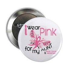 """I Wear Pink 45 Breast Cancer 2.25"""" Button (10 pack"""