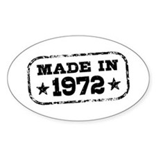 Made In 1972 Decal
