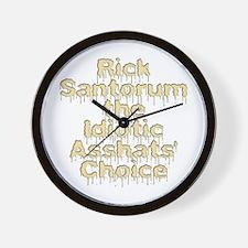 Rick Santorum the Idiotic Ass Wall Clock