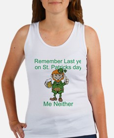 Funny St. Patrick's Day Quote Women's Tank Top