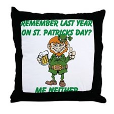 Funny St. Patrick's Day Quote Throw Pillow
