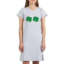 Shamrock Boobs Women's Nightshirt