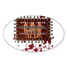 Cute Zombie hunting permit Decal