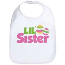 Easter Eggs Little Sister Bib