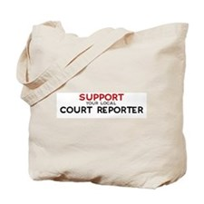 Support:  COURT REPORTER Tote Bag