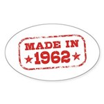 Made In 1962 Sticker (Oval)