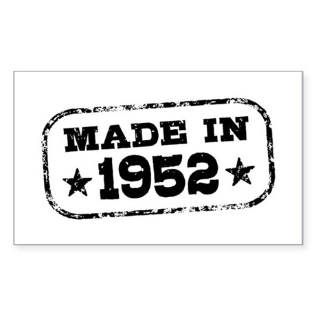 Made In 1952 Sticker (Rectangle)