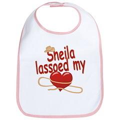 Sheila Lassoed My Heart Bib