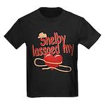 Shelby Lassoed My Heart Kids Dark T-Shirt