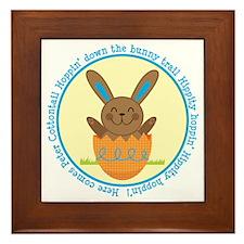 Peter Cottontail Boy Easter Framed Tile