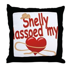 Shelly Lassoed My Heart Throw Pillow