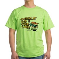 Quickly To The Lab! Green T-Shirt