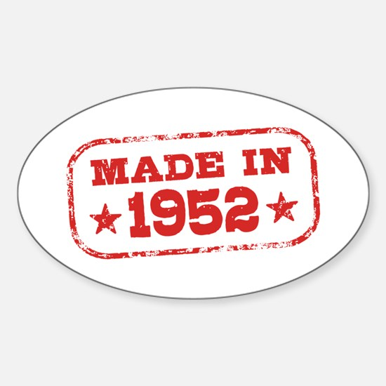 Made In 1952 Sticker (Oval)