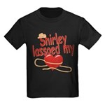 Shirley Lassoed My Heart Kids Dark T-Shirt