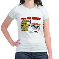 Dexter You Are Stupid! Jr. Ringer T-Shirt