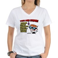 Dexter You Are Stupid! Women's V-Neck T-Shirt