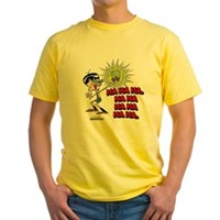 Mandark Ha Ha Ha Ha! Yellow T-Shirt