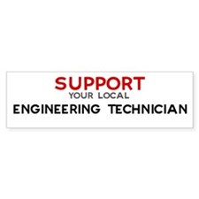 Support: ENGINEERING TECHNIC Bumper Bumper Sticker