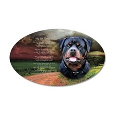 """""""Why God Made Dogs"""" Rottweiler 22x14 Oval Wall Pee"""