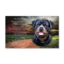 """""""Why God Made Dogs"""" Rottweiler Car Magnet 20 x 12"""