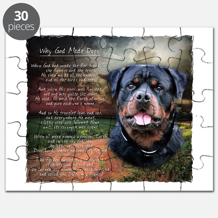 """Why God Made Dogs"" Rottweiler Puzzle"