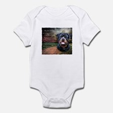 """Why God Made Dogs"" Rottweiler Infant Bodysuit"