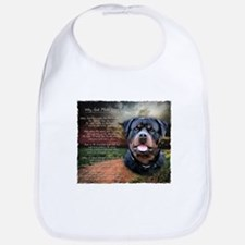 """Why God Made Dogs"" Rottweiler Bib"