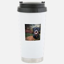 """Why God Made Dogs"" Rottweiler Travel Mug"