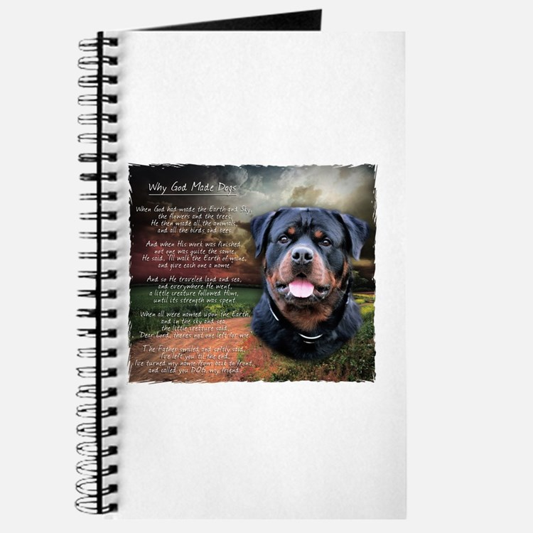 """Why God Made Dogs"" Rottweiler Journal"