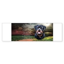 """Why God Made Dogs"" Rottweiler Bumper Sticker"