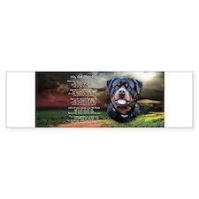 """Why God Made Dogs"" Rottweiler Car Sticker"