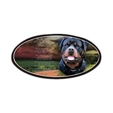 """""""Why God Made Dogs"""" Rottweiler Patches"""
