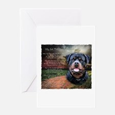 """Why God Made Dogs"" Rottweiler Greeting Card"